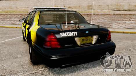 Ford Crown Victoria 2008 Security Patrol [ELS] para GTA 4 traseira esquerda vista