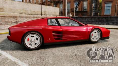 Ferrari Testarossa 1986 v1.1 para GTA 4 esquerda vista