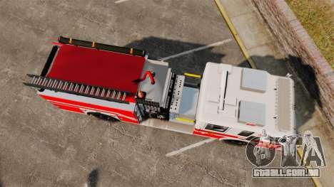 Firetruck Woonsocket [ELS] para GTA 4 vista direita