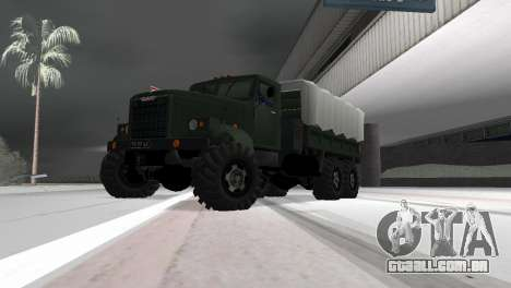 KrAZ 257 para GTA Vice City vista traseira esquerda