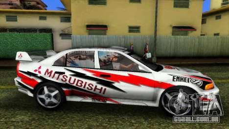 Mitsubishi Lancer Rally para GTA Vice City vista traseira esquerda