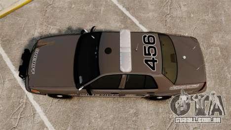 Ford Crown Victoria 2008 Sheriff Patrol [ELS] para GTA 4 vista direita