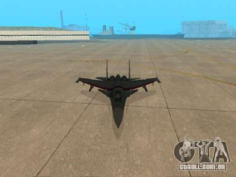 Su-33 para GTA San Andreas vista inferior