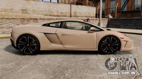 Lamborghini Gallardo 2013 v2.0 para GTA 4 esquerda vista
