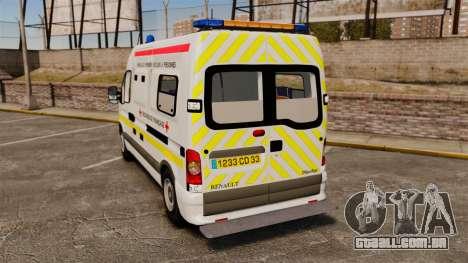 Renault Master French Red Cross [ELS] para GTA 4 traseira esquerda vista