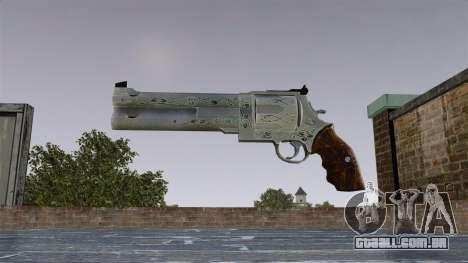 Revólver-Blue Rose- para GTA 4 terceira tela