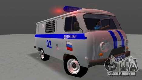 UAZ-3741 AUMONT para GTA Vice City vista traseira