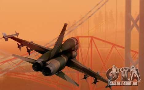 F-5 Tiger II para GTA San Andreas esquerda vista