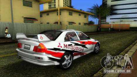 Mitsubishi Lancer Rally para GTA Vice City deixou vista