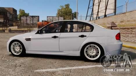 BMW M3 Unmarked Police [ELS] para GTA 4 esquerda vista