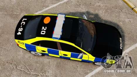 Audi S4 Police [ELS] para GTA 4 vista direita