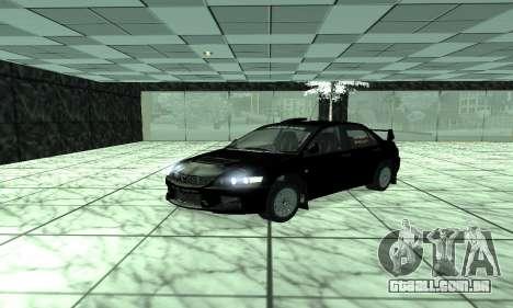Mitsubishi Lancer Evo 9 para GTA San Andreas esquerda vista