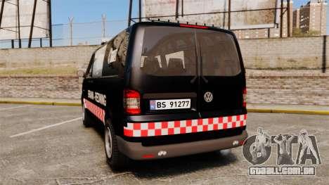 Volkswagen Transporter T5 2010 [ELS] para GTA 4 traseira esquerda vista