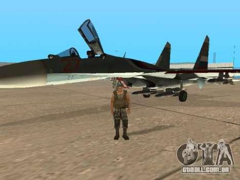 Su-33 para GTA San Andreas interior