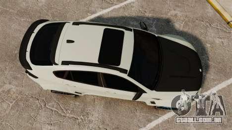 BMW X6 M HAMANN 2012 para GTA 4 vista direita