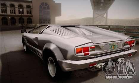 Lamborghini Countach 25th Anniversary para GTA San Andreas esquerda vista