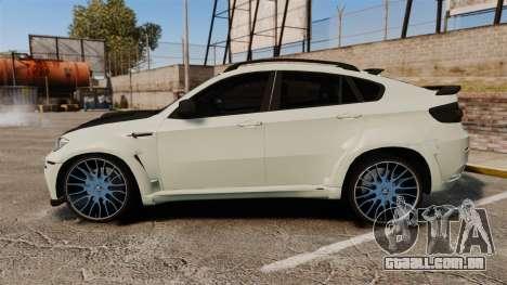 BMW X6 M HAMANN 2012 para GTA 4 esquerda vista