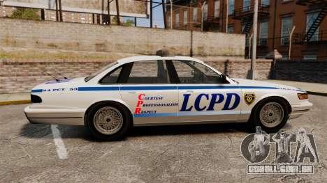 Vapid Police Cruiser v2.0 para GTA 4 esquerda vista