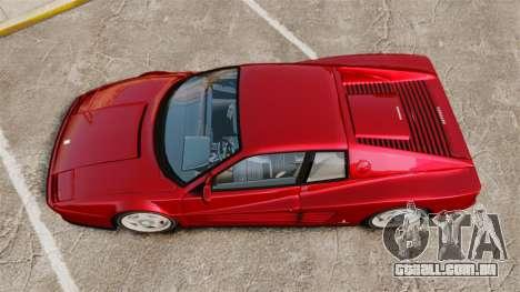 Ferrari Testarossa 1986 v1.1 para GTA 4 vista direita