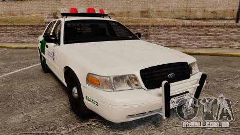 Ford Crown Victoria 1999 U.S. Border Patrol para GTA 4