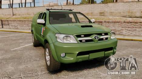 Toyota Hilux Land Forces France [ELS] para GTA 4