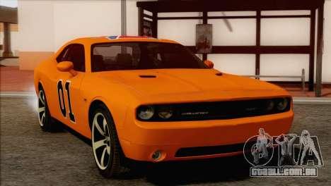 Dodge Challenger SRT8 2012 HEMI para GTA San Andreas vista inferior
