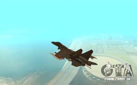Su-33 para GTA San Andreas traseira esquerda vista