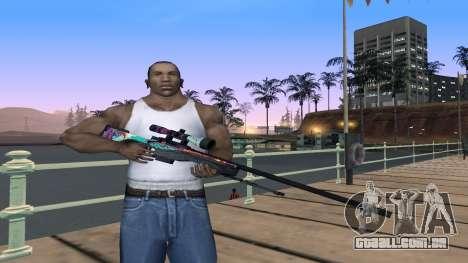 AWP from CS GO Gentleman para GTA San Andreas segunda tela