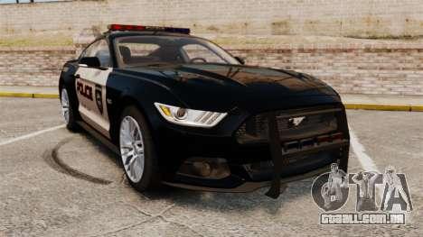 Ford Mustang GT 2015 Police para GTA 4
