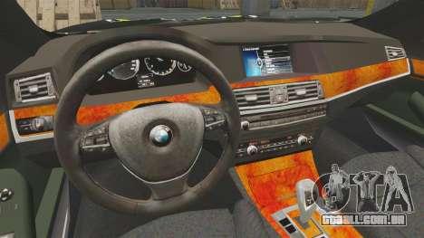 BMW 550i Metropolitan Police [ELS] para GTA 4 vista interior