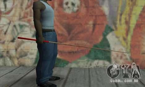 New Pool Cue para GTA San Andreas segunda tela