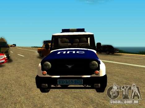 UAZ Hunter PPP para GTA San Andreas vista traseira