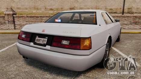 Admial Unmarked Police v1.4 [ELS] para GTA 4 traseira esquerda vista