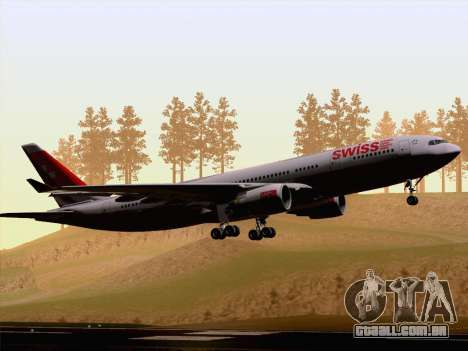 Airbus A330-223 Swiss International Airlines para GTA San Andreas vista traseira