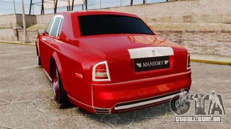 Rolls-Royce Phantom Mansory para GTA 4 traseira esquerda vista