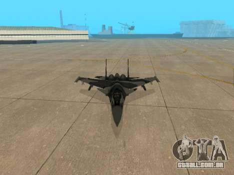 Su-33 para GTA San Andreas vista superior