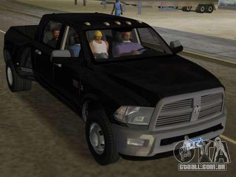 Dodge Ram 3500 Laramie 2012 para GTA Vice City vista superior