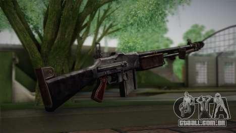 Browning M1918 para GTA San Andreas segunda tela