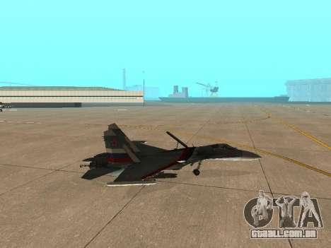 Su-33 para GTA San Andreas vista traseira