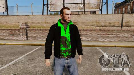 Jaqueta preta com um verde Olímpico para GTA 4