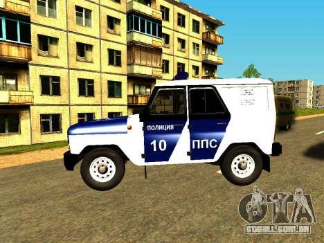 UAZ Hunter PPP para GTA San Andreas esquerda vista