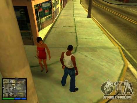 Pak peles de meninas para GTA San Andreas sétima tela