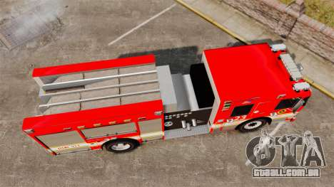 Division on Fire Columbus Firetruck [ELS] para GTA 4 vista direita