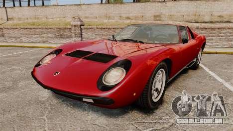 Lamborghini Miura P400 SV 1971 para GTA 4