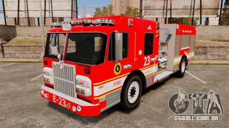 Division on Fire Columbus Firetruck [ELS] para GTA 4