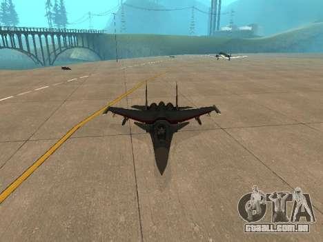 Su-33 para GTA San Andreas vista direita