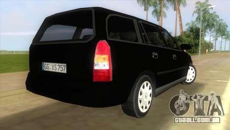Opel Astra G Caravan 1999 para GTA Vice City deixou vista