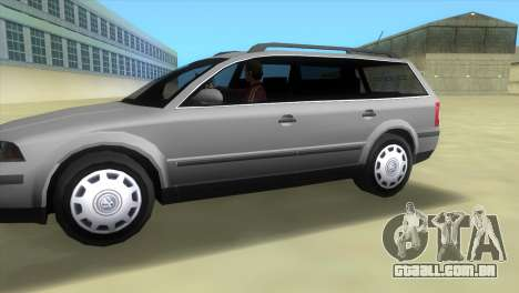 Volkswagen Passat B5+ Variant 1.9 TDi para GTA Vice City deixou vista