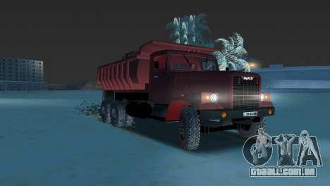 Caminhão de descarga KrAZ 255 para GTA Vice City deixou vista