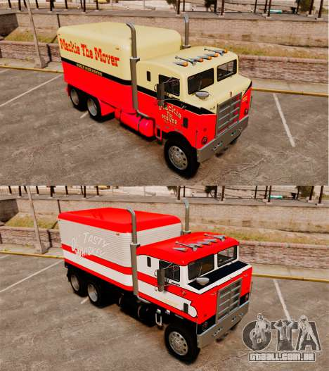 Kenworth COE Bullnose 1955 para GTA 4 vista inferior